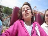 Teenager Freaks Out On First Roller Coaster Ride