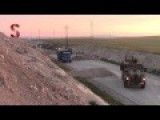 Turkish Military Convoy Passing Through YPG Checkpoint South Of Kobani - Syria