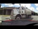 Truck Runs Red Light And Causes Crash