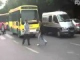 Tow Of Chinese Guys Fighting On Street