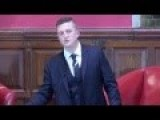 Tommy Robinson, Founder Of The EDL Speaks At The Oxford Union