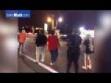 The Moment A Protester In Ferguson Is Hit By Speeding Car
