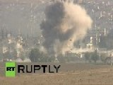 Turkey: Watch Kobani Rocked By Fresh Explosion, Fighting Continues