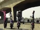 The Harlem Shake Dance On Motorcycle