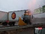 Trailer Flip And Crash Caught On Cam On NJ Turnpike I-95