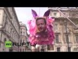 The Great Unwashed Demanding The Resignation Of David Cameron. *LIVE FEED*