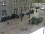Terrorist Invaders Attacking Police Station In Ukraine
