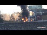 Tesla S Catches Fire At Charging Station