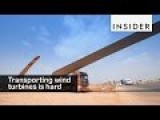 Trucks Hauled 90 Wind Blades Up A Steep Mountain In China