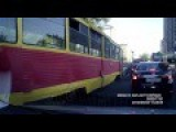 Tram Rams Into Cars At Intersection