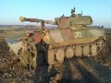 The Battery Of Four 122mm Self-propelled Guns Gvozdika Fire On Ukrainian Army