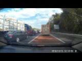 Traffic Cock Blocks Cop