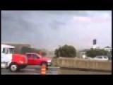 Tornado Rips Roof Off Texas Building