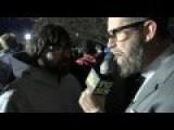 TALKING TO PROTESTORS AT A TRUMP RALLY
