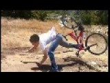 Teen Goes Flying Over Bike Handlebars