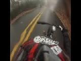 Trike Rider Crashes Into Tree