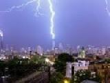 Triple Lightning Strike On 3 Tallest Buildings During Crazy Chicago Storm