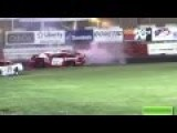 Two Crazy Racer Go Out Of Race And Begin To Crash Each Other