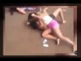 Two Women Fight In The Street