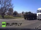 Ukraine: APCs Roll Into Lugansk