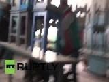 Ukraine: TERRIFYING Moment Shell Strikes Lugansk Soup Kitchen