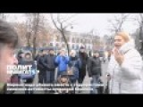 Ukraine - Kiev Zombies Verbally Attack A Refugee From Lugansk