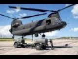 US Military Boeing Ch-47 Chinook Helicopters Flying Over Norfolk Virginia