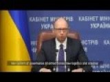 UT Tales :Ukrainian PM Yatsenyuk: Ukraine's Top Priority Is To Build An Army
