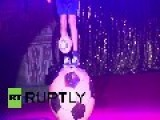 UK: Russian Circus Performer Breaks Juggling World Record