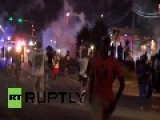 USA: Tear Gas Fired In Latest Ferguson Clashes