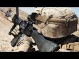 US Marines In Action Disembarking From Mrap And Firing M4 Carbine - Marines Exercise
