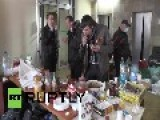 Ukraine: Pro-independence Activists In Dontesk Prepare Molotov Cocktails