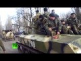 Ukrainian Armored Vehicles And Heavy Artillery Seen Close To Donetsk