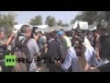 UN Chief Inspects Refugee Camp In Europe
