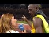 Usain Bolt Stopped The Interview To Hear The U S Anthem