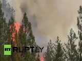 USA: Watch Fire Crews Battle MASSIVE California Wildfire