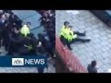UK - Mob Of Schoolchildren Attack Two Police Officers
