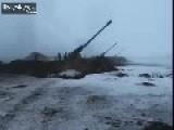 Ukrainian Howitzers Firing 31.01.2015