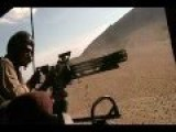 United States Marines Huey Bell UH-1 Iroquois Door Gunner Unloads On Taliban Forces Afghanistan