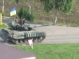Ukrainian Military Convoy Entering Kurahove Near Donetsk Covered By MRL Grad