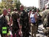 Ukraine: Watch Vostok Battalion Newlyweds Board A BTR-80 In Donetsk