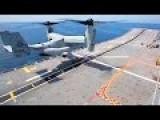 U.S. MV-22B Takeoff Landing On Armada Española Ship Juan Carlos I