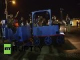 USA: Thomas The Tank Engine Joins Tense Ferguson Protests