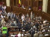 Ukraine: This Is What A Fistfight In Ukraine's Parliament Looks Like