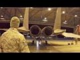 USAF F-15 Eagles Morning Launch At Canadian Air Force Base