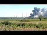 Ukraine News | Burning Oil Electric Station Near Slovyansk