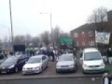 UK : Birmingham, Muslims March To Mega Mosque