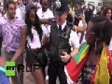 UK: Watch Revellers Twerking With Police At Notting Hill Carnival