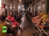 Ukraine: Mothers-to-be Seek Shelter From Shelling In Hospital Basement