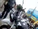 Unlucky Brazilian Bandits Crashes Their Runaway Bike Head-on Into A Police Car